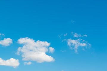 Beautiful bright sky blue background.