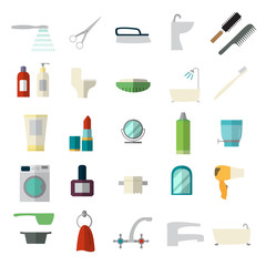 Set of bathroom icons