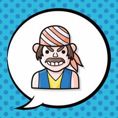 pirate doodle, speech bubble