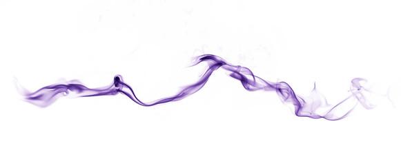purple blue smoke on white