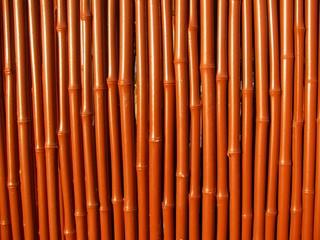 Brown bamboo wall
