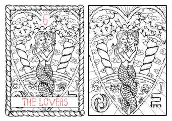 The tarot card. The lovers