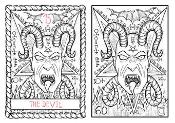 The tarot card. The devil.