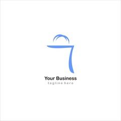 shop shopping logo icon vector