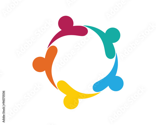 Community Care Logo Vector Concept Engagement Togetherness Stock