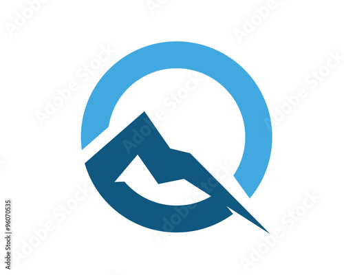Q letter mountain logo stock image and royalty free vector files on q letter mountain logo reheart Image collections