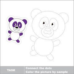 Vector trace game. Panda to be traced.