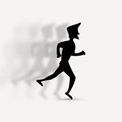 Vector illustration of running man icon