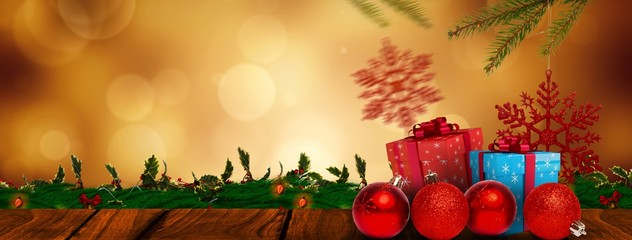 Composite image of presents