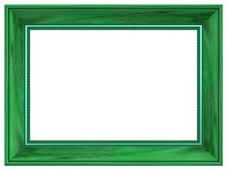 Picture frame isolated on white background. Computer generated 3D photo rendering.