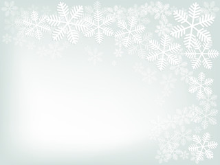 abstract background of winter in grey, Christmas background with snowflakes