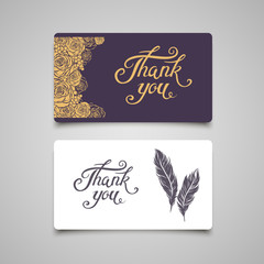 Thank You lettering card template