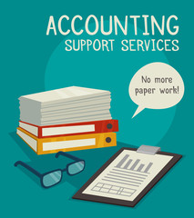 Accounting Support Services Concept