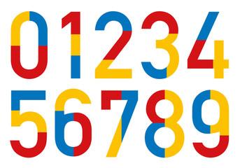 CHIFFRES 3 couleurs