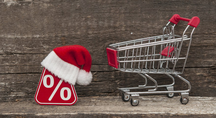 Sale, shopping and discounts for Christmas gifts.
