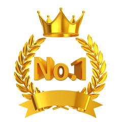 Gold No.1 emblem