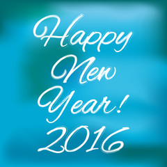 Happy new year banner on a black and white background