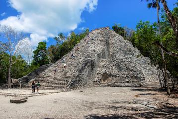 Ancient mayan city Coba in Mexico