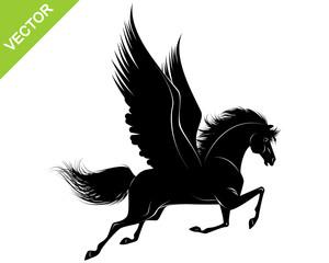 Pegasus black silhouette