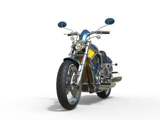 Blue and Yellow Metallick Bike
