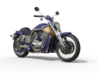 Purple Roadster Bike