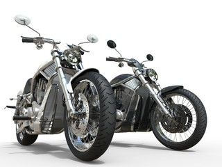 Black and White vintage motorcycles