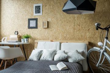 Small trendy bedroom