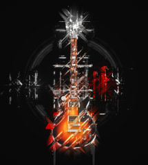 Abstract illustration - Hard Rock guitar