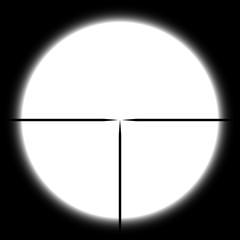 Vector sniper rifle optical sight with crosshair