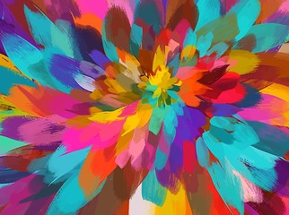 Colorful flower brush strokes background. Vector version