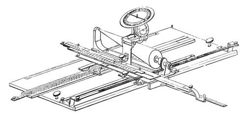 Arithmo Planimeter, vintage engraving.