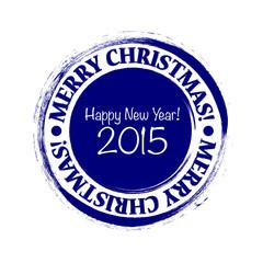 Merry Christmas grunge post stamp