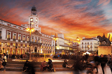 Photo sur Plexiglas Madrid Madrid, Puerta del Sol
