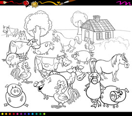 cartoon farm animals for coloring