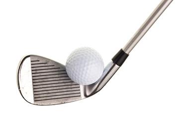 Foto op Aluminium Golf golf club and ball isolated