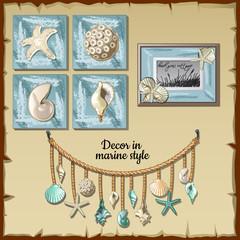 Image set of the interior ocean decor