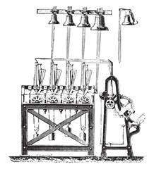 Final system carillon tower Saint-Germain l'Auxerrois, vintage e