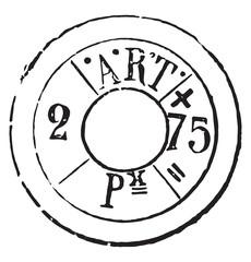 Cartridge Brands rifle model 1874, vintage engraving.