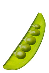 green pea pod isolated