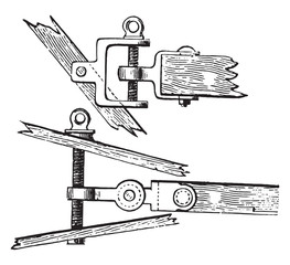Elevation and plan of Rear screw adjusting the plow Horsky, vint