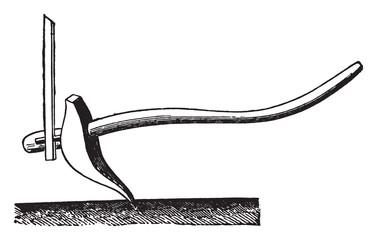 Plow Chatrakal, vintage engraving.