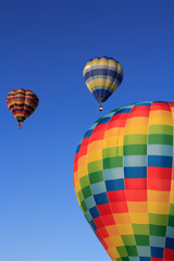 colored air balloons at the blue sky