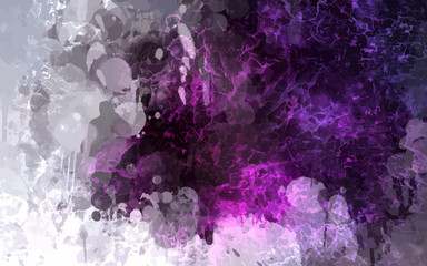 Violet scribble brush strokes background. Vector version