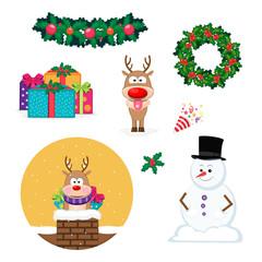 Set of Christmas holiday