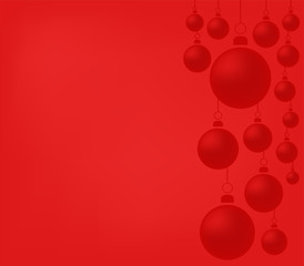 Christmas decorations with balls