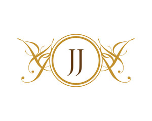 JJ Luxury Ornament initial logo