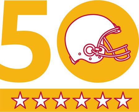 50 Pro Football Championship Sunday Helmet