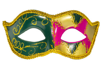 Venetian Carnival Mask   patterned asymmetrical frontal picture