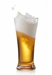Fototapete - beer splashing