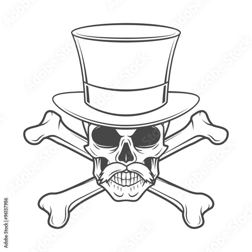 Outlaw skull with mustache 554b132ae76